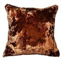 "UK MADE COPPER ORANGE CRUSHED THICK VELVET RUST 24"" CUSHION COVER £12.99 EACH"